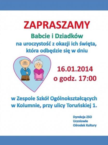 Zaproszenie Na Uroczystość Dnia Babci I Dziadka łaskonlinepl