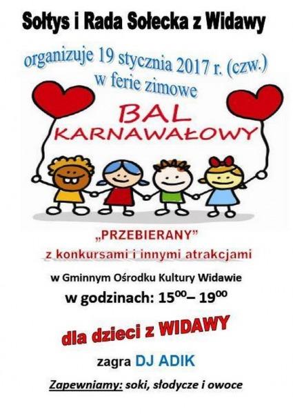 Zaproszenie Na Bal Karnawałowy Do Widawy łaskonlinepl Codzienna