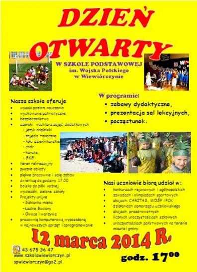 Zaproszenie Na Dzień Otwarty Do Wiewiórczyna łaskonlinepl