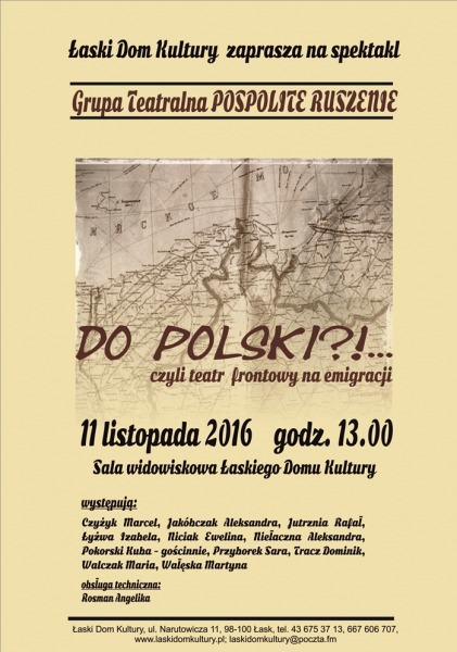 Zaproszenie Na Spektakl Do Polski łaskonlinepl Codzienna